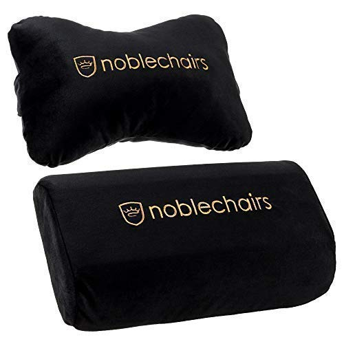 noblechairs Pillow-Set for Epic/Icon/Hero Gaming Chairs - Black/Gold