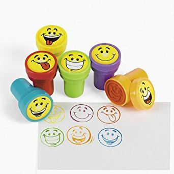 (Fun Express 24 pc Goofy Smile Silly Face Stamps)