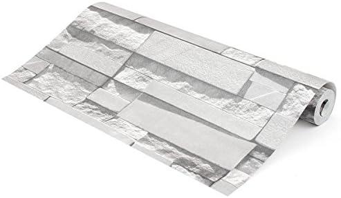 Queenwind 0.53 x10m ブリックパターン3D 壁紙ステッカーテクスチャー不織布テレビの背景装飾
