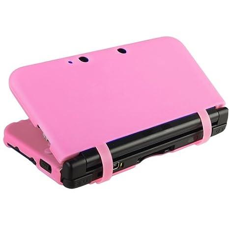 Funda Silicona Carcasa Para Nintendo 3DS LL XL Rosa Caja ...