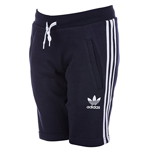 adidas Originals Boy's Originals Trefoil Fleece Short 10 Blue Adidas Fleece Shorts