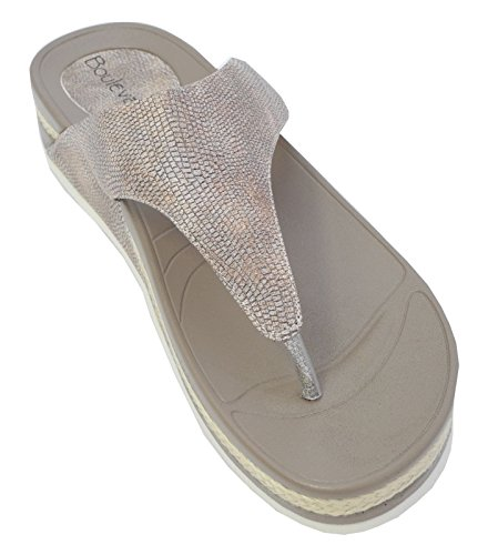 Boulevard - Zapatos con correa de tobillo mujer Dorado - dorado