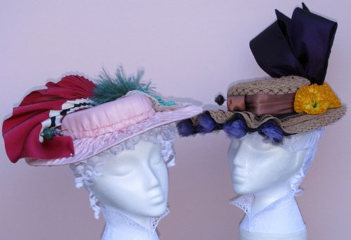 Victorian Style Hats, Bonnets, Caps, Patterns 1895-1905s La Belle Epoque Hat Pattern $13.95 AT vintagedancer.com