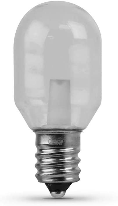 "FEIT Electric BPT6/SU/LED Non-Dimmable Led Bulb, 1.2 W, 120 V, 50 Lumens, 3000K, 3/4 In Dia X 1-7/8 In L, 1.88"" H x 0.75"" D, Warm White"