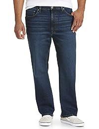 Amazon Essentials Jeans rectos holgados grandes y altos Jeans para Hombre