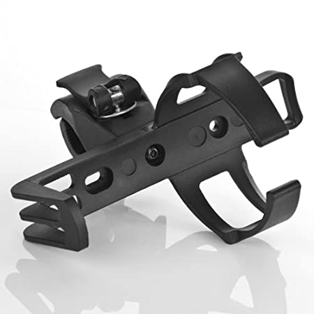 Astra Depot 1 Jet Black Universal Light Weight Adjustable No Slip Cup Cans Bottle Drink Holder Clamping Clip Mount for Snowmobiles Boats Sails Walkers Rod Baby Carriage