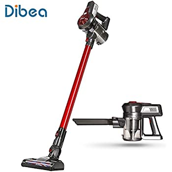 [US Stock]Dibea Vacuum Cleaner, 2 in 1 Cordless Vacuum Cleaner, Upright Vacuum Cleaner with High-power Long-lasting, 22.2V Rechargeable Lithium-Ion Lightweight Canister Stick Handheld Vacuum Cleaner