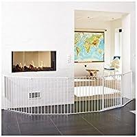 BabyDan 56824-10400-10Flex XXL Türschutzgitter, weiß