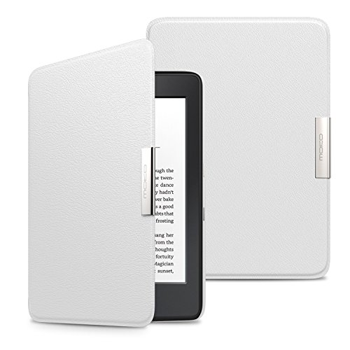 MoKo Case for Kindle Paperwhite, Premium Ultra Lightweight Shell Cover with Auto Wake/Sleep for Amazon All-New Kindle Paperwhite (Fits All 2012, 2013, 2015 and 2016 Versions), WHITE