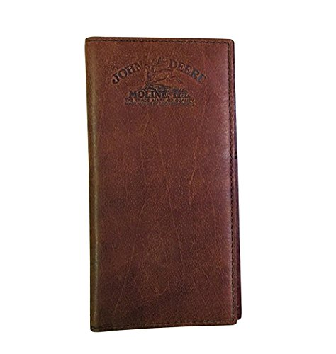 John Deere Checkbook (John Deere Brown Embossed Logo Leather Checkbook Wallet)