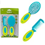 Baybee Comb and Brush Set Baby Care Set for Newborns Assorted Colours (Grooming Set) (Green)