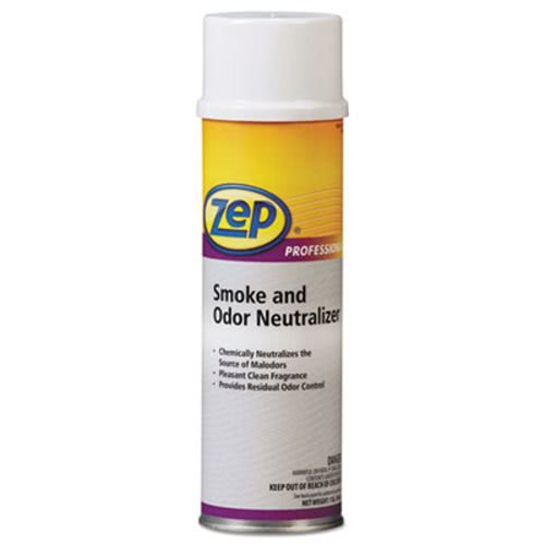 Zep Professional Smoke and Odor Neutralizer, Pleasant Scent, 20 oz Aerosol - Includes 12 cans.