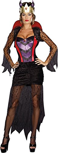 Dreamgirl Wicked Queen Dress, Black/Red, X-Large (Wicked Queen Costumes)