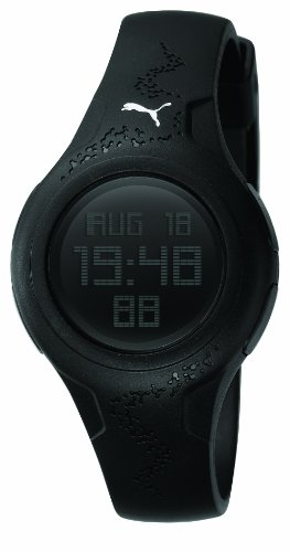 PUMA Women's PU910452001 Spin Black Digital Watch