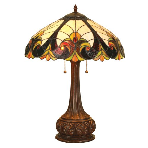 Amber Victorian Floor Lamp (Chloe Lighting CH18780TL 2 Light Victorian Table Lamp)