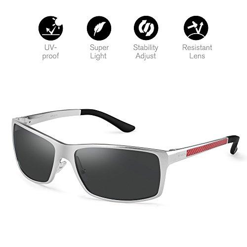 Men's Polarized Sunglasses UV400 Unbreakable Wayfarer - Frames For Best Face Oval