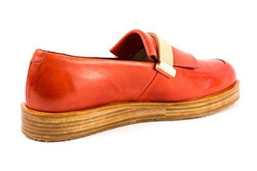 Neosens - Mocasines de Piel Lisa para mujer rojo rojo 37