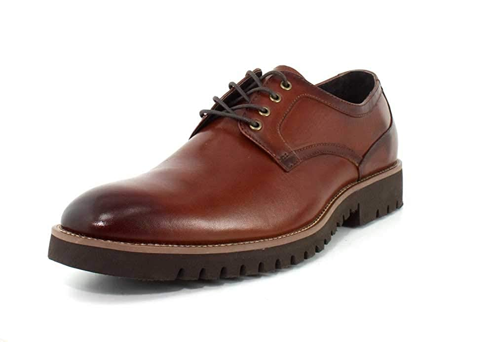 Cognac Stacy Adams Mens 25230-001 Barclay Lace-up Oxford