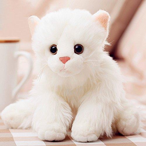 Luckstar Pomeranian Dog Plush Toy, 9-Inch, White