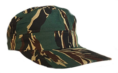 (Camouflage Chef Baseball Hat Camo in Soft Twill Original ACU Woodland Cookie Desert Tiger Stripes and More (Green Stripes))