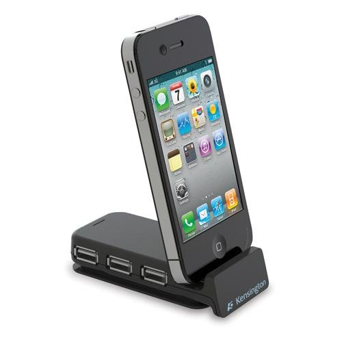 Kensington Pocket Hub 3-Port USB and Sync Travel Hub for iPod and iPhone