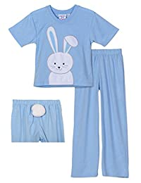 Sara's Prints Bunny 2 Piece Pajama/Costume Set With Tail, Kids Sizes 2T-10