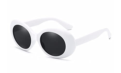 BOZEVON Retro UV400 Gafas de sol Oval Anteojos de Protección para Mujer y Hombre