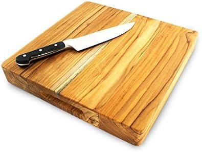 Terra Teak Square Wood Cutting Board Premium Eco Teak 14 X 14 X 2 Inch Amazon Sg Home