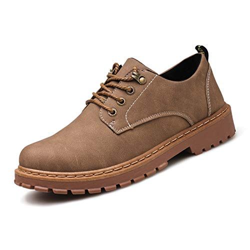 Scarpe Derby Colore Cachi Durable Toe Suola ZHRUI Dimensione Brown 41 per Soft Khaki Plain Marrone classiche Black stringate uomo EU R6HdwqFO