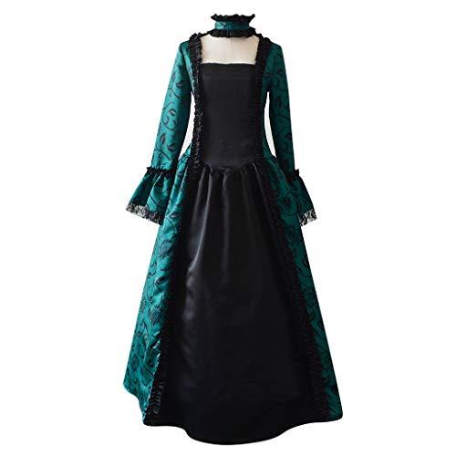 Halloween Costume-Women's Gothic Cosplay Dress Vintage Renaissance Medieval Costume Dress Lace Victorian Maxi Dress -