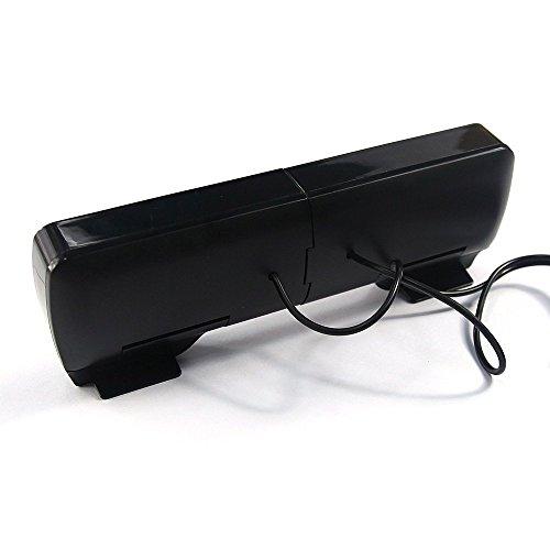 SUPVIN Portable Mini Clip-On USB Powered Stereo Multimedia Speaker Soundbar for Notebook Laptop PC Desktop Tablet Black by SUPVIN (Image #4)