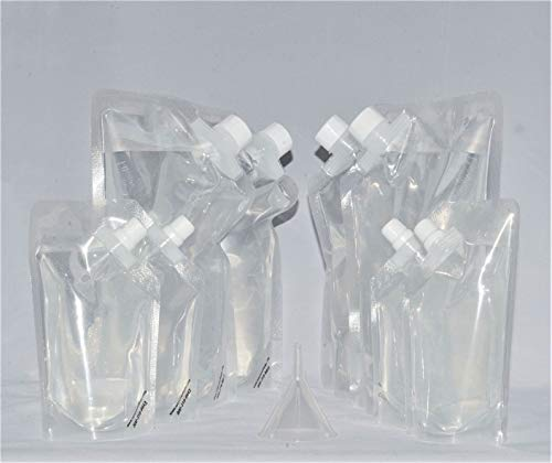 - Rum Runner Genuine Wine Smuggler 4 32oz and 4 16oz Flasks Plus a Funnel