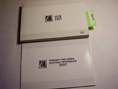 amazon com 2007 saturn vue owners manual saturn books rh amazon com 2007 saturn outlook user manual 2007 saturn vue v6 owners manual