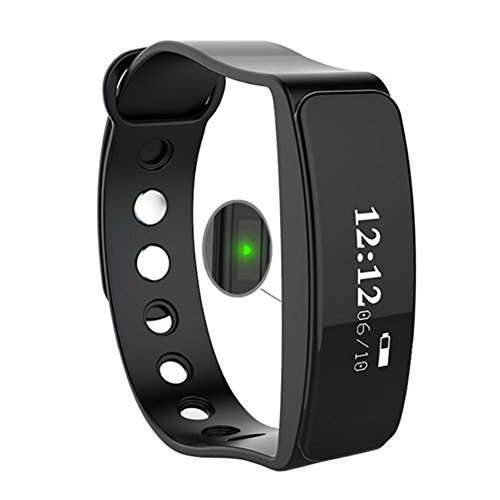 TOLEDA Fitness Tracker, W23 Activity Wristband-Bluetooth Wireless Smart Bracelet, Waterproof Pedometer Activity Tracker Watch for IOS & Android Smartphone by Chige (Black)