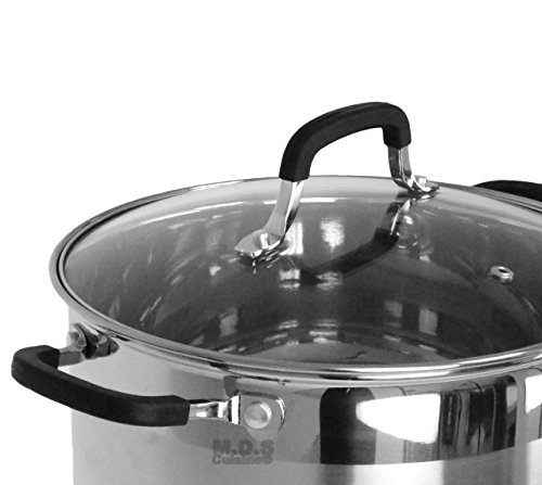 Stockpot 5 Layer Capsulated Bottom Stainless Steel Vaporera Tamalera Traditional Stock Pot Olla Tamale (11Qt) by itchen & Restaurant Supplies (Image #1)