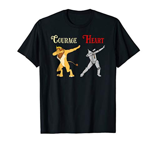 Cowardly Lion Courage Tin Man Heart Shirt-Wizard Of Oz Tee]()