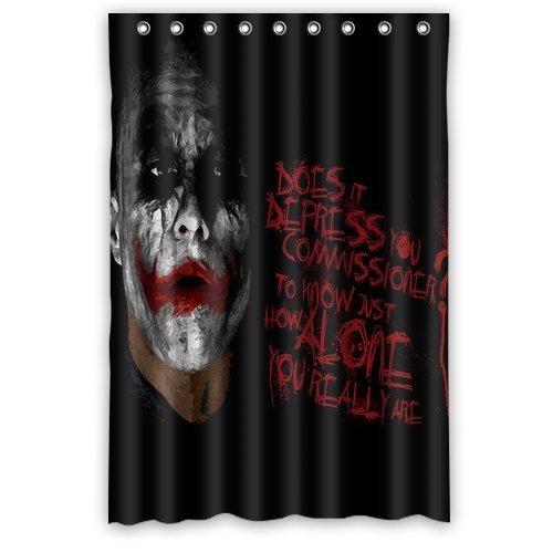 Aloundi Custom Best Batman Joker Shower Curtain Decoration Waterproof Polyester Fabric Bathroom Shower -