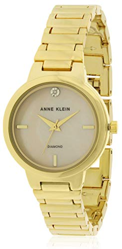 Anne Klein Mother of Pearl Dial Stainless Steel Ladies Watch AK2440PMGB ()