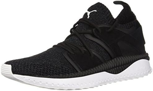 PUMA Men's Tsugi Blaze Evoknit Sneaker, Black Asphalt White
