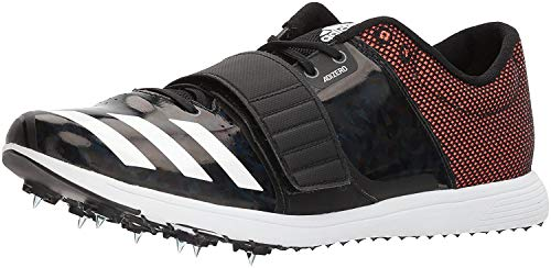 adidas Adizero tj/pv Running Shoe core Black, FTWR White, Orange 14.5 M US by adidas (Image #1)