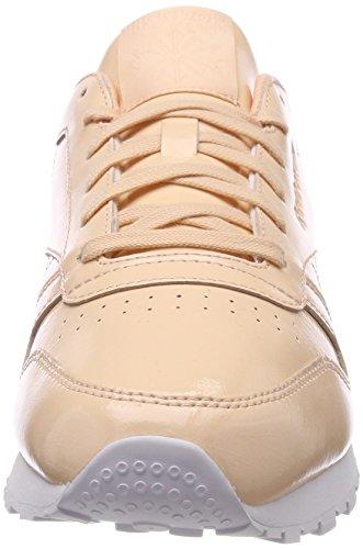 Reebok Beige White Dust 000 Desert Dust EU Leather Desert Femme Patent White Baskets 36 Classic fwxfvArqSF