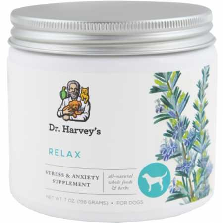 Dr. Harvey's Relax and Stress Herbal Supplement for Dogs, 7-Ounce Tin