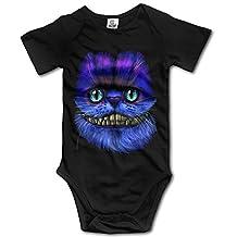 CHYY Newborn's Big Face Cheshire Cat Organic Baby Onesie Romper