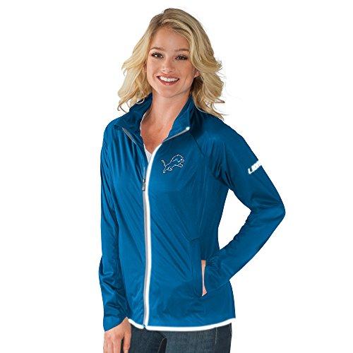 NFL Detroit Lions Women's Batter Light Weight Full Zip Jacket, X-Large, Royal
