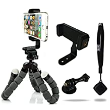 iPhone Tripod with Bonus Bluetooth Shutter Remote - Pro Series Edition featuring JAWS Mount Technology. Universal for Phones, Cameras, Webcams, etc.