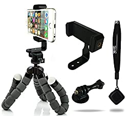 Camrah Iphone Tripod Flexible Pro Series With Bluetooth Shutter Remote & Portrait Landscape Mount
