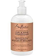 SheaMoisture Curl & Shine Sulfate Free Conditioner for Thick, Curly hair Coconut & Hibiscus to Restore and Smooth Dry Hair 379 ml