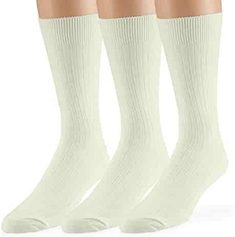 Classic Mens Diabetic Non-Binding Ankle Socks 3-Pack Big and Tall Available