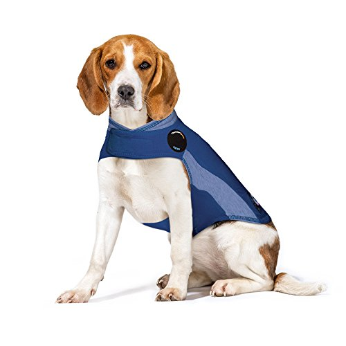 ThunderShirt Polo Dog Anxiety Jacket, Blue, Medium