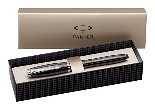 Parker Urban Premium Ebony Metal Chiseled, Rollerball Pen with Fine Black refill (S0911490)